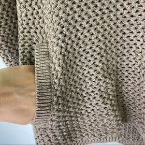 LOFT Sweaters - LOFT taupe chunky slouchy turtleneck sweater small